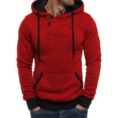 Men's Round Neck Casual Cationic Long Sleeve Hoodie