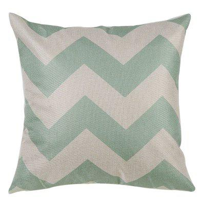 PCM052-B Two Tone Striped Linen Throw Pillow Cover