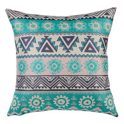 PCM061-B Ethnic Style Pattern Linen Throw Pillow Cover