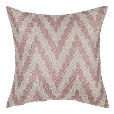 PCM064-B Two Tone Striped Linen Throw Pillow Cover