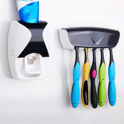 Home Bathroom Toothpaste Dispenser Automatic  Toothbrush Holder No Batteri