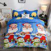 New Christmas 3D Digital Bedding Santa 2 / 4PCS - MULTI COLORI-A