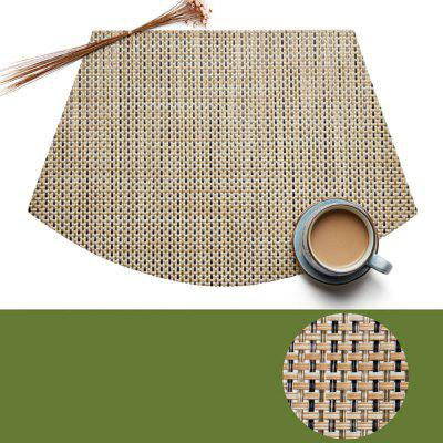 Solid Color Table Mat Insulation Tableware Mat Fan-Shaped Table Mat