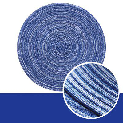 Round Cotton Gauze Table Mat Thermal Insulation Western Food Mat Is Braided Anti