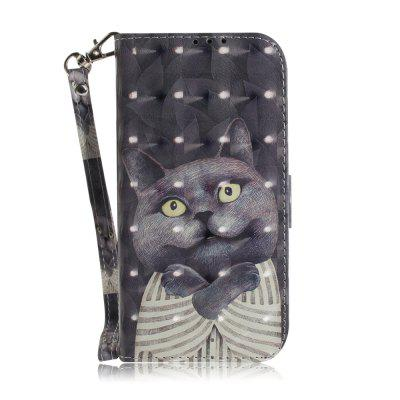 Suitable for Samsung Galaxy S 7 Edge Leather Case Embrace The Cat Phone Case