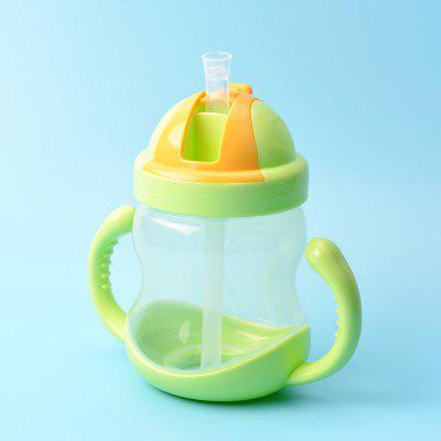 Baby Drinking Cup 280ML Double Handle Drink Training Straw Cup