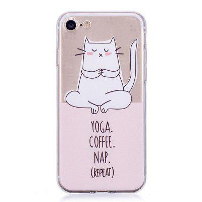 Yoga Cat Painting Phone Case for iPhone 8 / 7