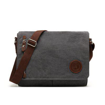 Men Canvas Bag Casual Travel Male Messenger Crossbody School Shoulder Package