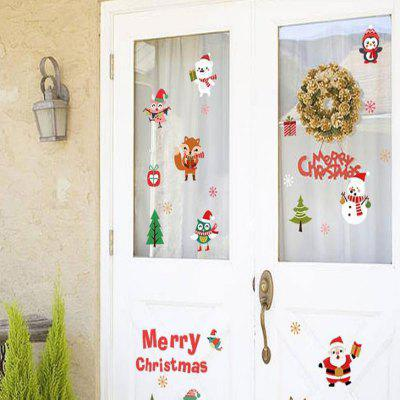 Snow Christmas Glass Doors and Windows Decoration Schaufenster-Set Dekoration Sti