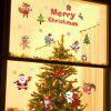 Snow Christmas Glass Doors and Windows Decoration Shop Window Set Decoration Sti - RED