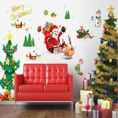 Can Remove The Wall Stickers Camera dei bambini Salotto Camera da letto Babbo Natale Chr
