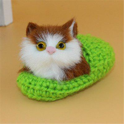 Lovely Cat Slippers Plush Toy