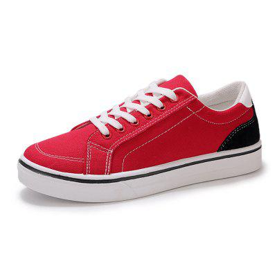 Men Low-Top Thick-Soled Breathable Trend Lace Casual Skate Shoes