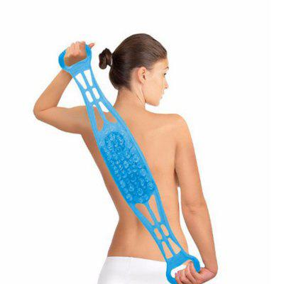 Silicon Dual Sided Back Scrubber Body Massage Brush Blue