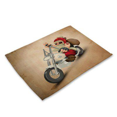 Papai Noel Impresso Tampon Table Mat