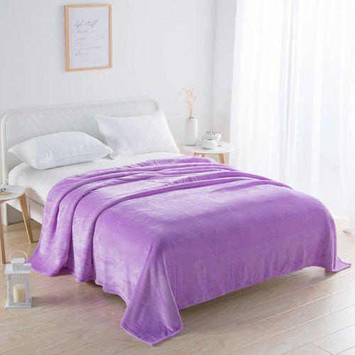 Luxury Solid Color Flannel Blanket with Double Thickness To Keep Warm