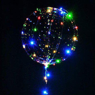 Balloon LED Lights BoBo Bubble Balloon For Birthday Wedding Valentine Decoration