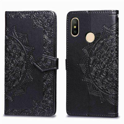 Datura Embossing PU Leather Wallet Ständer für Xiaomi Redmi Note 6 Pro