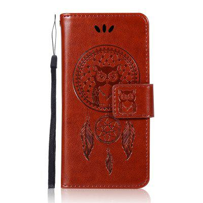 Owl Wind Chimes Wallet Flip Leather Cover for IPOD Touch5 / Touch6 Phone Case