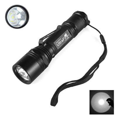 UltraFire WF-506B Cree XP-L V6 1000LM 5-SPEED 18650 LED Clip-On Flashlight