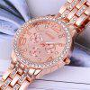 GENEVA Women Fashion Diamond-Encrusted Casual Steel Band Quartz Watch - MULTI-A