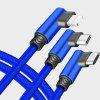 3 in 1 USB Charging Cable 1.5m Elbow Double-Sided Reversible USB + Micro-USB - BLUE