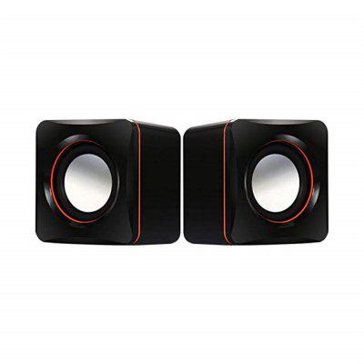USB Computer Speaker Small Mighty Solid Wired Multimedia PC Tablets TVs Black