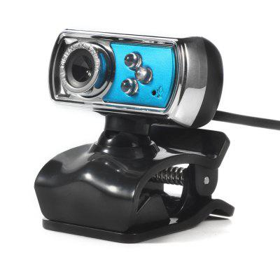 USB Webcam HD Web Camera 12M Chip und Linse Clarity 3 LED für PC-Laptop