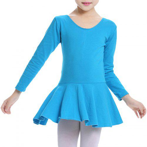 b4909933f Girl's Ballet Dress Sweet Cute Solid Color O Neck Long Sleeve Dance Clothing  | Gearbest