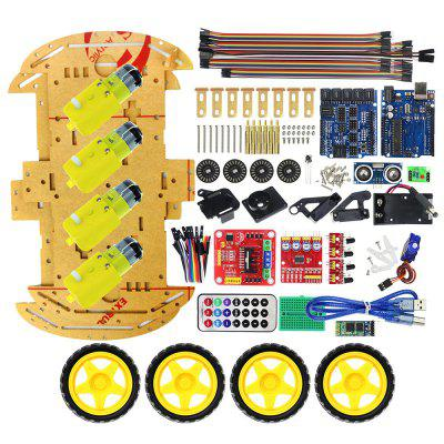 Intelligent bluetooth remote control diy four-wheel drive car kit