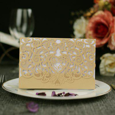 Personalized cards  business invitation cards  creativity  hollowing out wedding