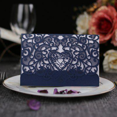 Hollow invitation wedding invitation letter  laser hollowed lace greeting card