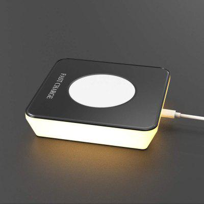 2 in1 Qi Wireless Quick Charger and Night Light Pad Stand Comp for iPhone