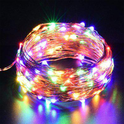 10M 100leds  7 Different Color Automatic Scintillation USB  Silver Thread String
