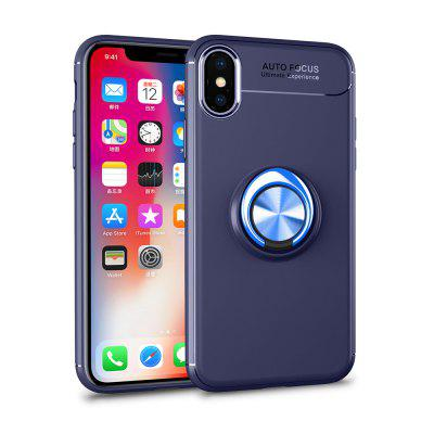 360 Ring Stand Holder Kickstand Magnetic Car Cover for iPhone Xs Max Case