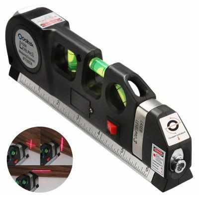 Multipurpose Level Laser Horizon Vertical Measure Aligner Bubbles Ruler Tool