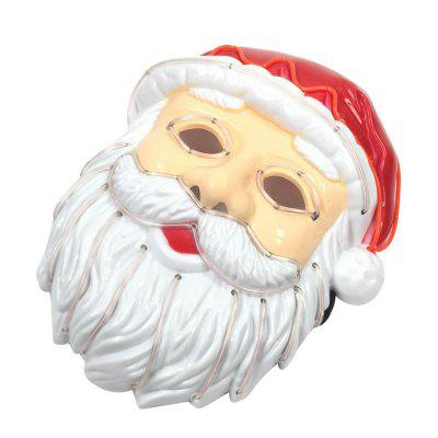 Christmas Santa Claus LED mask lit ball mask voice control