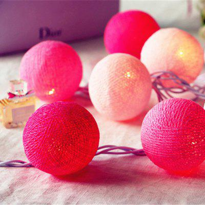 LED Line Ball Light String Decorative Lights Holiday Lighting Battery