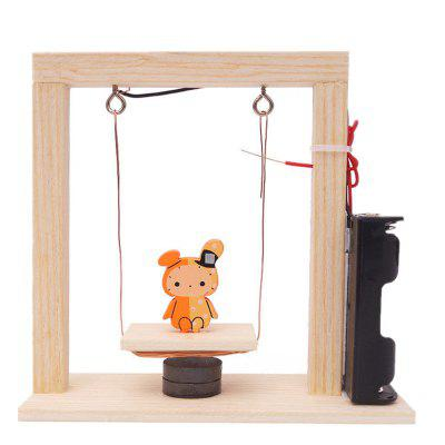DIY Electromagnetic Swing Children Science Education Toy