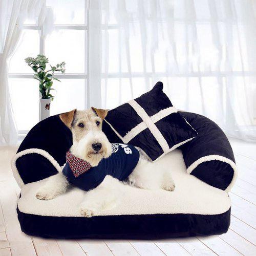 Fashion Pet With Pillow Gentleman Sofa Doghouse Lovely Cat Mat