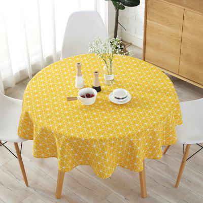Round table cloth printed tablecloth