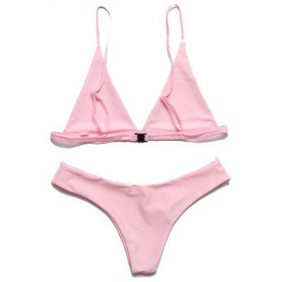 European and American Women Sexy Solid Color Bikini Bathing Suit