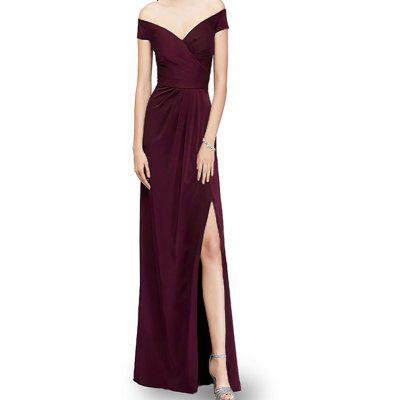 A Strapless Evening Dress