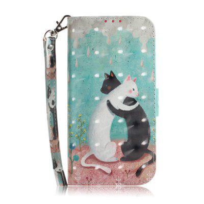 Black and White Cat Leather Case for Samsung J 4 PLUS/ J 4+