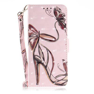 Butterfly High Heel Leather Case for Samsung Galaxy S 9