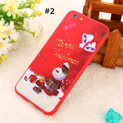 For iphone 6 / 6 Plus / 6S / 6S Plus TPU+PC Back Cover White socks Christmas Phone Case