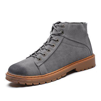 Men Boots Breathable Soft and Comfortable Fashion Lace Up