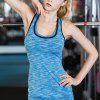 Fitness Training Tight Elastic Quick-drying Yoga Vest - CRYSTAL BLUE