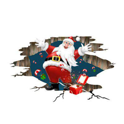 Santa Claus Gifts Window Wall Sticker Removable Decals Xmas Decor