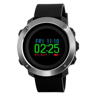 SKMEI Men OLED Display Pedometer Compass Compass Digital Sports Watches